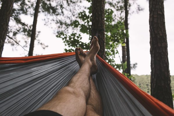 Backpacking Hammock in the Forest