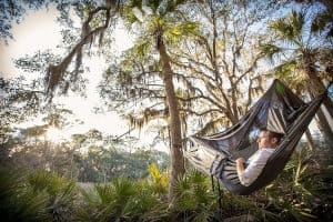 ENO JungleNest Hammock In Use