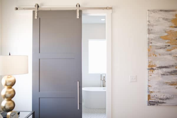 Sliding Door with Handle