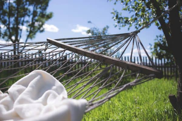 White Blanket on Hammock