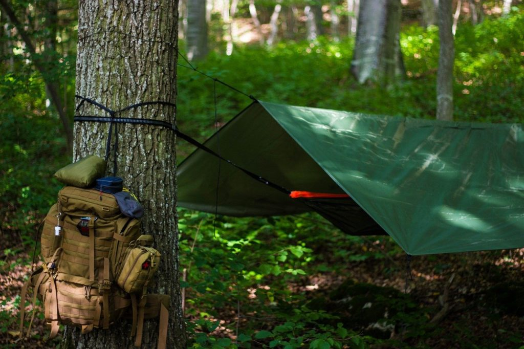 camping with a hammock tent